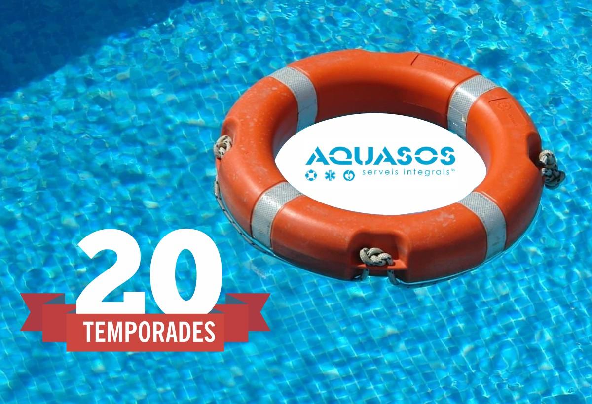 Aquasos finalitza la seva 20ª temporada de piscines