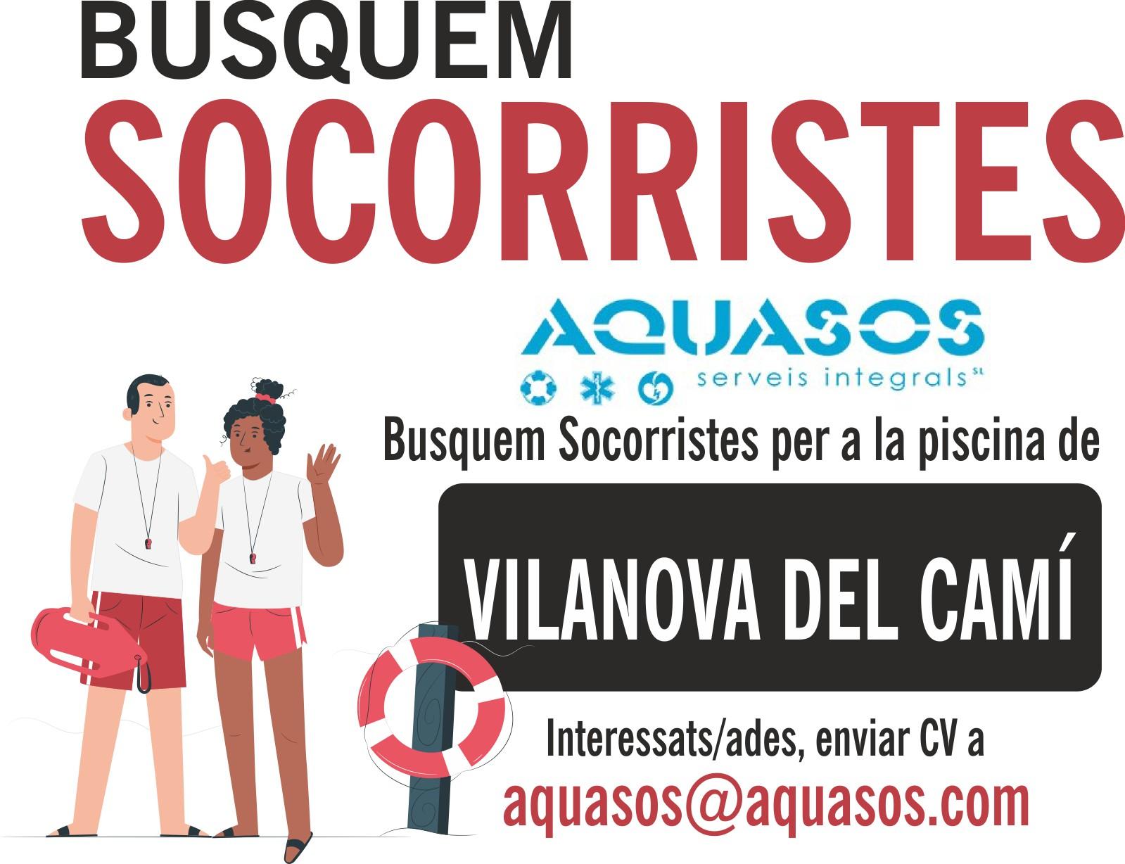 Busquem socorristes per a la piscina de Vilanova del Camí